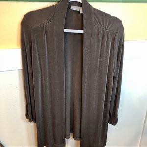 Chico's cardigan travelers material Size 1 gray